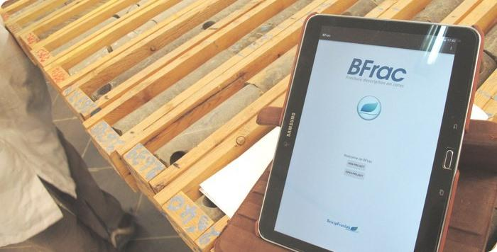 BFrac, our Android APP used exclusively by our Structural specialists for collecting, indexing and storing fracture data